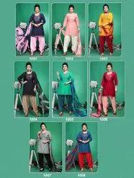 Manjeera Stitched Designer Rayon Patiala Suit, Dry clean