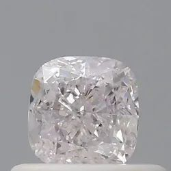 Cushion 0.14ct Faint Pink SI1 GIA Certified Fancy Color Natural Diamond