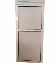 White Paint Coated Rectangular Aluminium Door, Thickness: 8.5mm