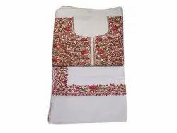 Semi-Stitched Embroidered Kashmiri Jaal Suit, Handwash