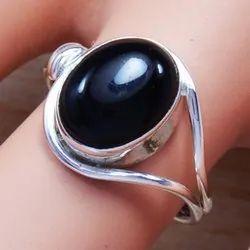 925 Sterling Silver Designer Real Black Onyx Ring SJWR-567