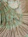 Long Width Georgette Emroidered Fabric-Gota Work