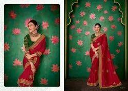 Kimora 6.3 m (with blouse piece) Kajal Vol 8 Silk Embroidery Paithani Saree