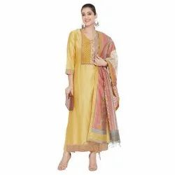 Vastrangana Silk Pakeeza Collection Suit, For Women Wear,party Wear, Dry Clean