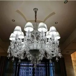 Cage Type Incandescent Bulb Crystal Chandelier