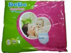 Disposable Cotton Bebe Smart Diaper Pants, Age Group: Newly Born, Packaging Size: 3 To 6 Kg