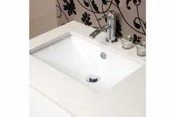 Saurabh & Company Wall Mounted Ceramic Wash Basin, For Bathroom