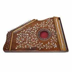 Wooden Brown Swarmandal Musical Instrument