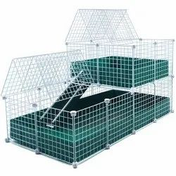 Steel Guinea Pig Cage, For Clinic Purpose