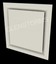 Powder Coated Plaque Diffuser, For Commercial, Shape: Square
