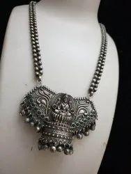 Maa Lakshmi Design Oxidized Necklace