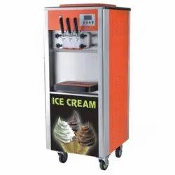 Softy Ice Cream With Ripple Machine