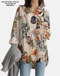 Multicolor Ladies Flower Printed Top