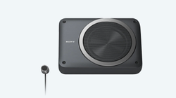Black Sony XS-AW8 8 Active Underseat Subwoofer Peak Power:160W RMS: 75W, Size/Dimension: 8 Inches