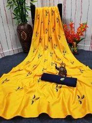 ARCHIT ENTERPRISE Wedding Wear Sana Silk Saree, 6.3 m (with blouse piece)