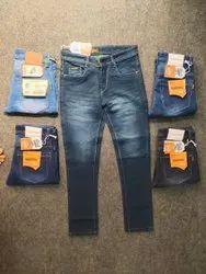 Faded Mens Slim Fit Casual Denim Jeans