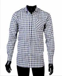 JPND Collar Neck Men Blue Checks Shirt