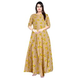 Rayon Gown Women Fashionable Midi Dress