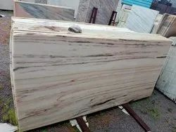 White Brown Marble Slabs, Thickness: 16 mm