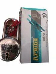 Silver Main Door 40 mm Arvind Adion Long Shackle Padlock, Chrome