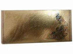 Golden Paper Rectangular Gift Envelope