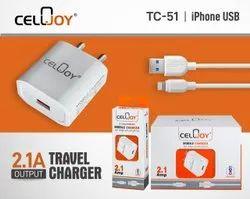 1 Meter White Cellojoy Travel Mobile Charger