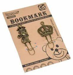 Fancy Creative Soft Decorative Paper Organizer Metal Bookmarks Clip & Binder
