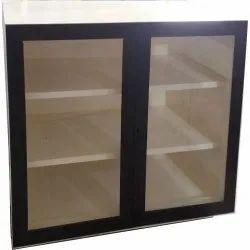 3 Shelves Schools Glass Door Almirah