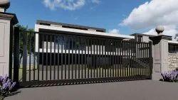 Sona Residential Iron Sliding Gate