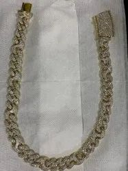 10kt Gold Cuban Chain With Original Diamond