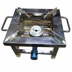 Stainless Steel Gas Bhatti, Number of Burners: Single, Size: 10 X 6 Inch