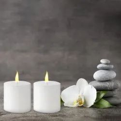 White Wax Pillar Candle