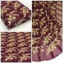 Viscose Georgette Embroidered Fabric-Allover