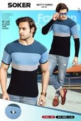 Mens Metty Half Sleeves T-Shirt, Size: L And Xl
