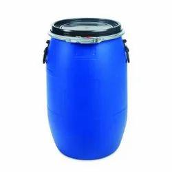 Blue HDPE Plastic Storage Drums, Capacity: 50 Liter