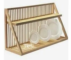Wooden Plate Rack- 02