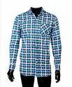 Jpnd Collar Neck Blue Check Shirt