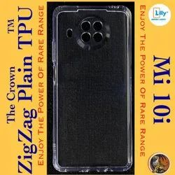 Soft Silicon Transparent Mobile Back Cover For Mi 10i 5g, Packet, Size: Model Wise