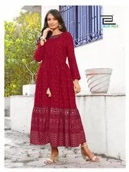 Blue Hills Presenting Ace Rayon Long Jacket Style Kurti With New Concept