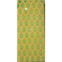 Printed Cotton Churidar Green Material, For Garments