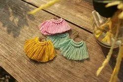 Boholiciouss Cotton Fashion Macrame Hoop Earring Set