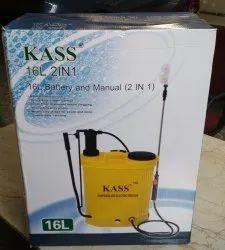 KASS 2 In 1 Knapsack Battery Sprayer, 16  lt