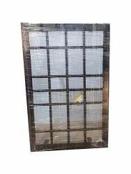 Square Checks Vertical Iron Grill Window, Rectangular