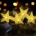 Hardoll Solar String Lights 30 LED Decorative Lighting Crystal Star Shape