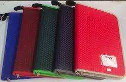 PVC + Board Assorted Zip File Folder With Leaf