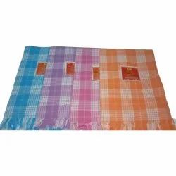 Checked Pool Cotton Towel, Size: 30 X 60 Inch