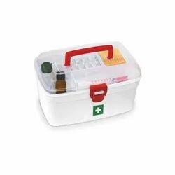 First Aid Kit Box Lockable Medicine Storage Box Family Emergency Kit  Box