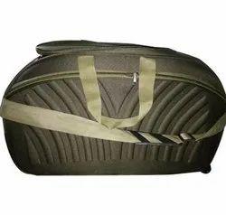 Polyester Grey, Purple Trolley Travel Bag
