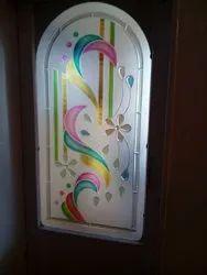 Multicolor Glossy Decorative Interior Gate Fusion Glass, Thickness: 8 Mm