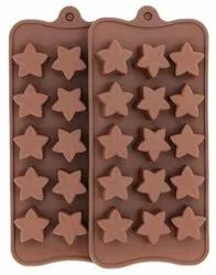 SILICONE STAR SHAPE CHOCOLATE MOLD - 15CAVITIES